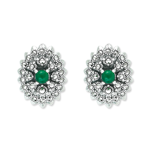 Retro Marcasite Stud Earrings to Buy for Winter Season