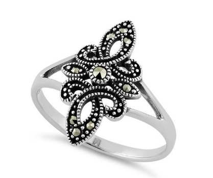 What Is A Sterling Silver Marcasite Ring001