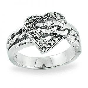 Heart-Shaped Antique Marcasite Rings